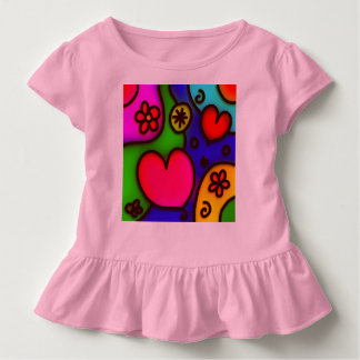 colorful modern love 2 toddler t-shirt
