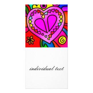 colorful modern love card