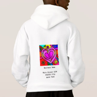 colorful modern love hoodie