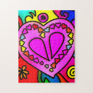colorful modern love jigsaw puzzle