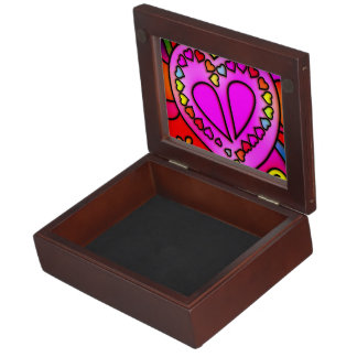 colorful modern love keepsake box