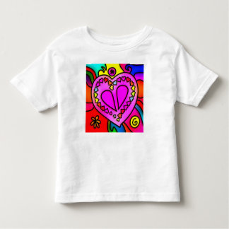 colorful modern love toddler t-shirt