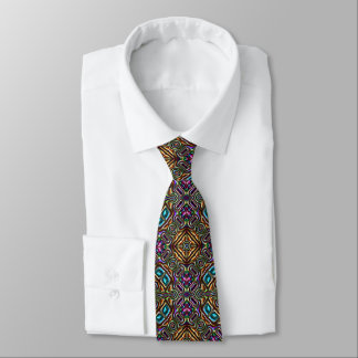 Colorful Modern Mandala Square Mosaic Pattern Tie