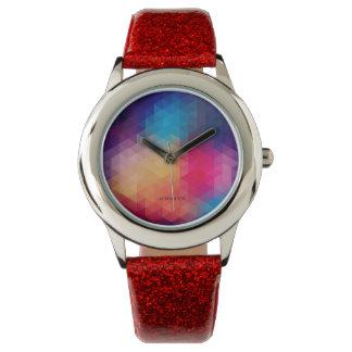 Colorful Modern Mosaic Geometric Pattern Watch