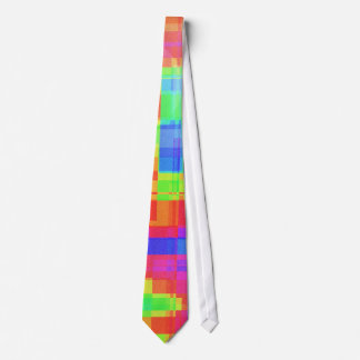 Colorful modern mosaic pattern neck tie