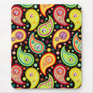 Colorful Modern Paisley Pattern 4 Mouse Pad