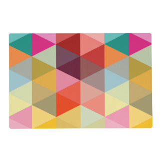 Colorful Modern Palette Triangle Pattern Placemats