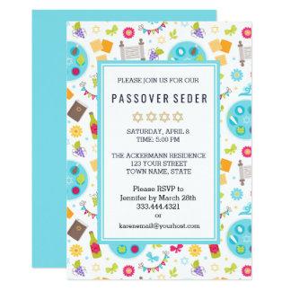 Colorful Modern Passover Sedar Invitations