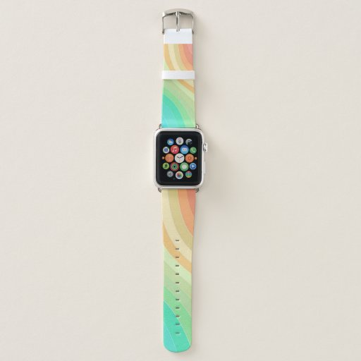 Colorful Modern Pastel Waves Apple Watch Band