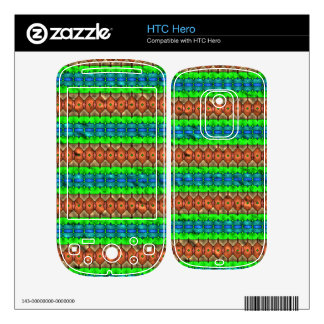Colorful modern pattern decal for HTC hero