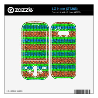 Colorful modern pattern LG neon decal