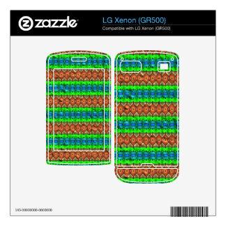 Colorful modern pattern LG xenon skin