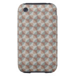 Colorful modern pattern tough iPhone 3 case