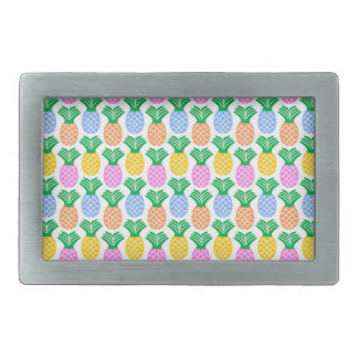 Colorful Modern Pineapple Pattern Belt Buckle
