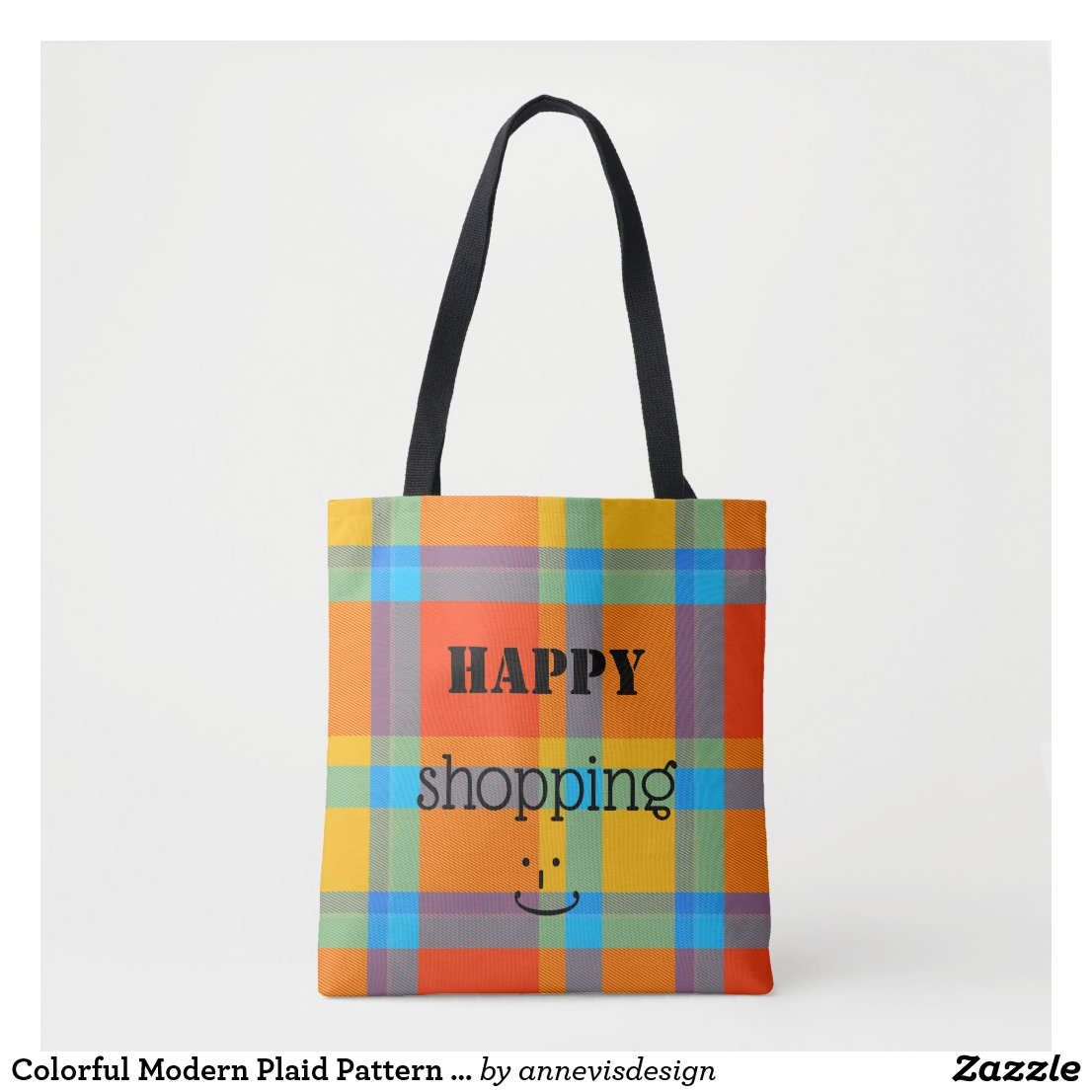 Colorful Modern Plaid Pattern Bag