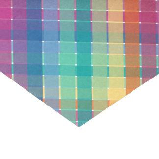 "Colorful Modern Rainbow Plaid Stripes 10"" X 15"" Tissue Paper"