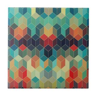 Colorful Modern Seamless Cubes Geometric Pattern Tile