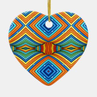 Colorful Modern Southwest Pattern Ceramic Ornament