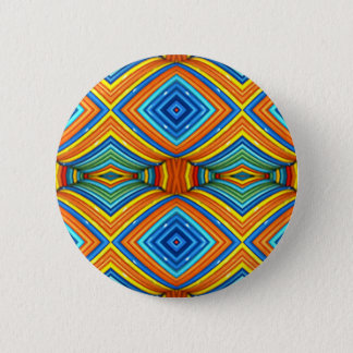 Colorful Modern Southwest Pattern Pinback Button