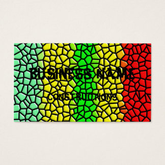 colorful modern stained glass business card