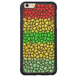 colorful modern stained glass carved® maple iPhone 6 plus bumper case
