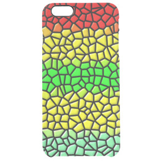 colorful modern stained glass clear iPhone 6 plus case
