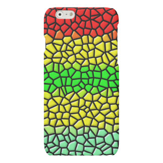 colorful modern stained glass matte iPhone 6 case