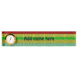 colorful modern stained glass name plate