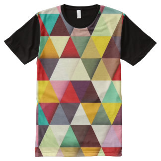 Colorful Modern Triangle Pattern All-Over Print T-shirt