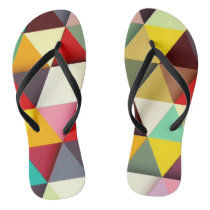 Colorful Modern Triangle Pattern Flip Flops
