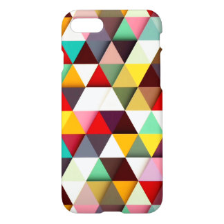 Colorful Modern Triangle Pattern iPhone 7 Case