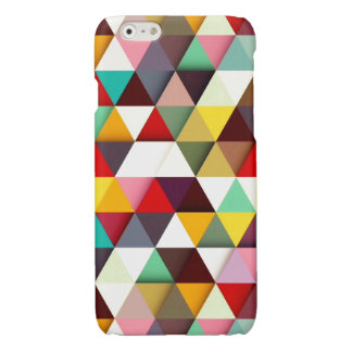 Colorful Modern Triangle Pattern Glossy iPhone 6 Case