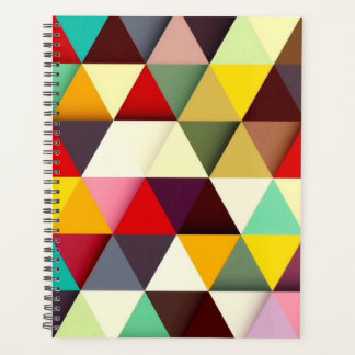 Colorful Modern Triangle Pattern Planner