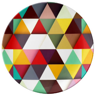 Colorful Modern Triangle Pattern Plate