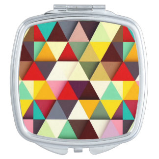 Colorful Modern Triangle Pattern Vanity Mirror