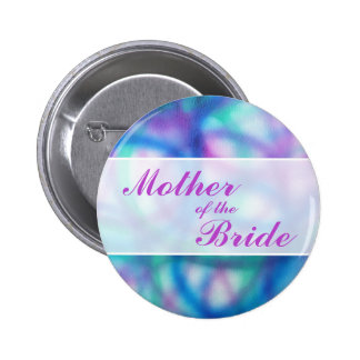Colorful Modern Wedding. Mother of the Bride Button