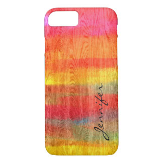 Colorful Modern Wood Grain Background #11 iPhone 7 Case