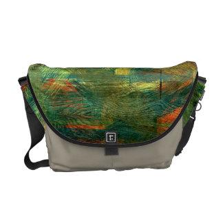 Colorful Modern Wood Grain Background #2 Messenger Bag