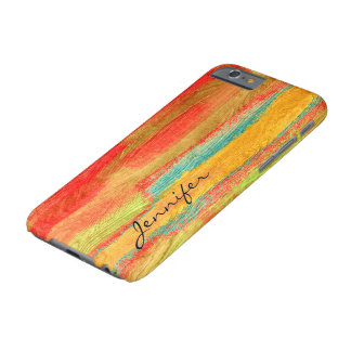 Colorful Modern Wood Grain Background #6 Barely There iPhone 6 Case