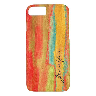 Colorful Modern Wood Grain Background #6 iPhone 7 Case