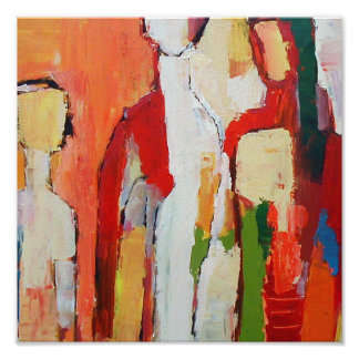 Colorful Modernist Painting Print