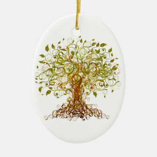 Colorful Modernist Tree 13 Ceramic Ornament