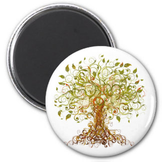 Colorful Modernist Tree 13 Magnet