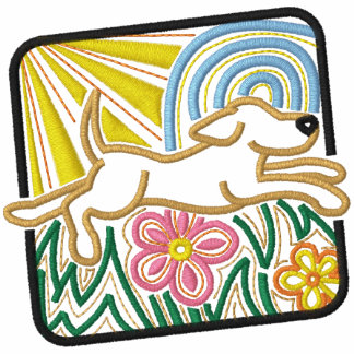 Colorful Mola Dog Square