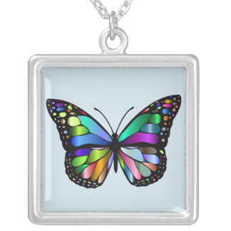 Colorful Monarch Butterfly Necklace