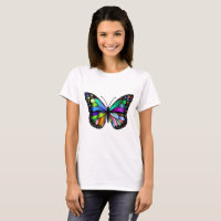Colorful Monarch Butterfly T-shirt