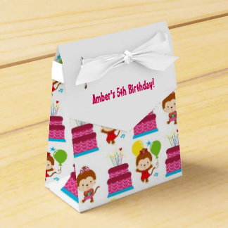 Colorful Monkey Theme Birthday Favor Box