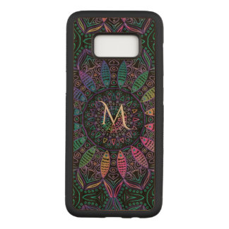 Colorful Monogram Mandala Wood Galaxy S8 Case