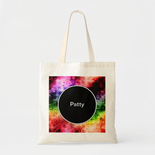 Colorful Monogram Tote Bag