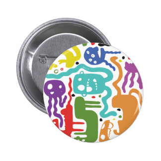 colorful Monsters 2 Inch Round Button